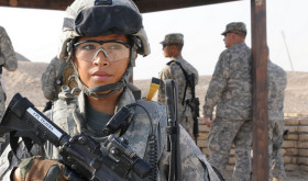 Woman in US military