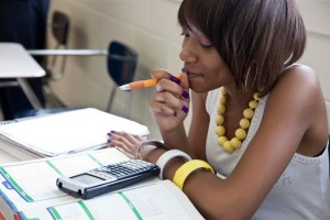 Black student school charter math