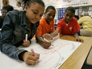 Black students classroom learning