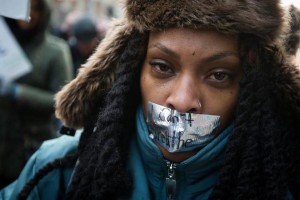 black woman protester